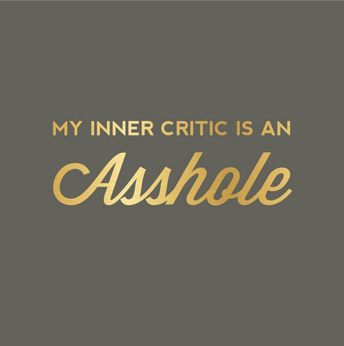 Image result for inner critic meme
